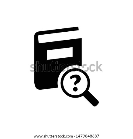 Dictionary lookup vector graphics solid icon
