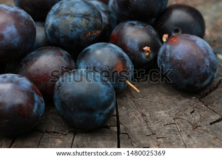 background of beautiful home plums #1480025369