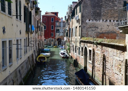 One of millions water streets of Venice #1480145150