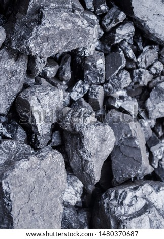 Closeup image of coal pieces. Selective focus. Heating, mining, miners #1480370687