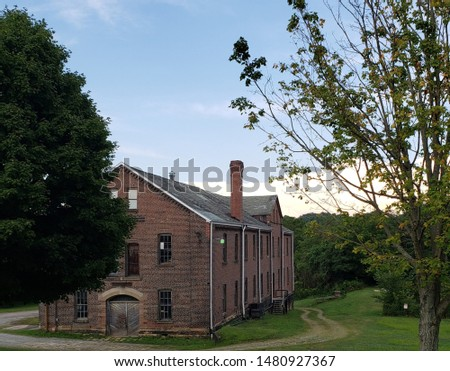 Latrobe, Pennsylvania /USA - August 15, 2019: Boiler House at Saint Vincent College in Latrobe, PA #1480927367