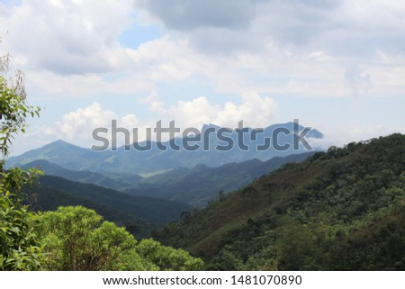 Valley mountaing view in Minas Gerais Brazil #1481070890