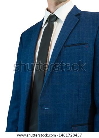 businessman in tuxedo in elegant blue suit. close up #1481728457