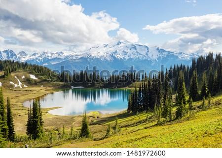 Image lake and Glacier Peak in Washington, USA #1481972600