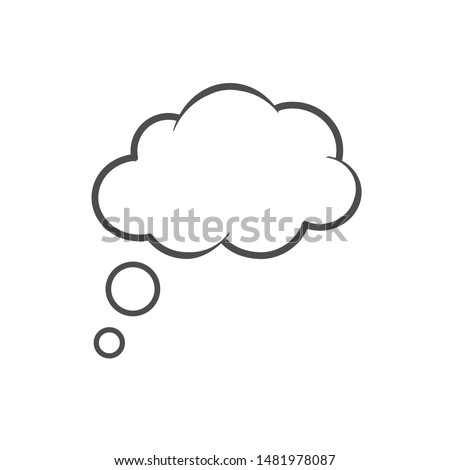 Think bubble isolated icon. Vector illustration #1481978087