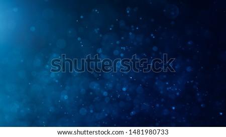 Abstract Blue bokeh defocus glitter blur background. #1481980733