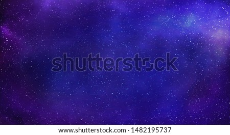 Milky way galaxy with stars and space background. #1482195737