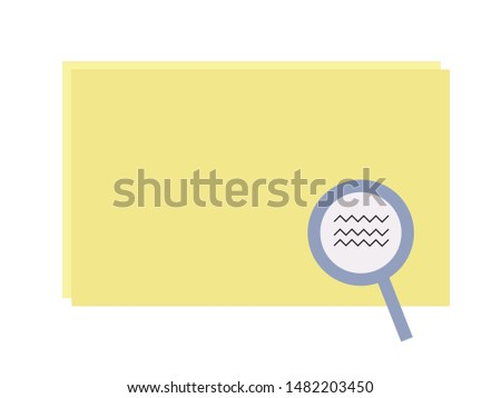 Reverse image lookup on yellow paper vector