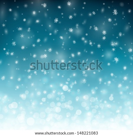 Winter background with snowflakes, eps 10