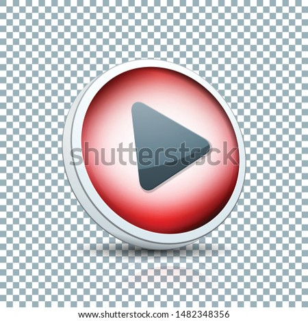Play Arrow Button sign transparent background  illustration #1482348356