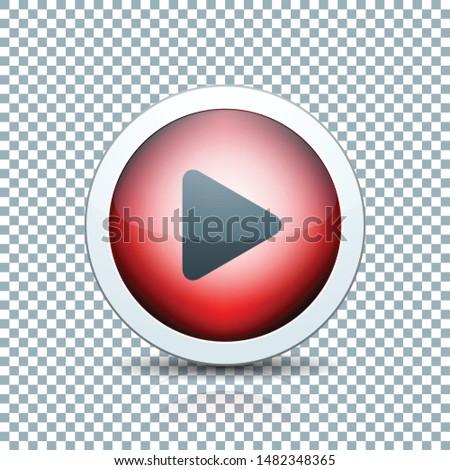 Play Arrow Button sign transparent background  illustration #1482348365