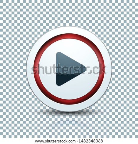 Play Arrow Button sign transparent background  illustration #1482348368