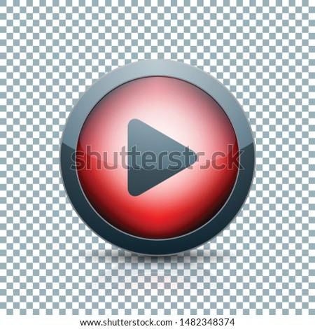 Play Arrow Button sign transparent background  illustration #1482348374