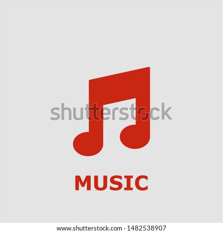 Music symbol. Outline music icon. Music vector illustration for graphic art. #1482538907