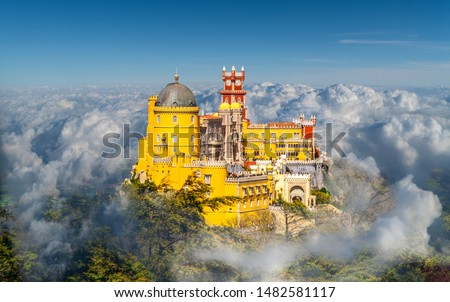 National Palace of  Pena, Sintra region, Lisbon, Portugal #1482581117