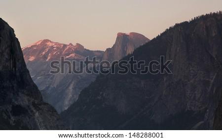 Panoramic view of Yosemite Valley with El Capitan displayed, in Yosemite National Park, California  #148288001