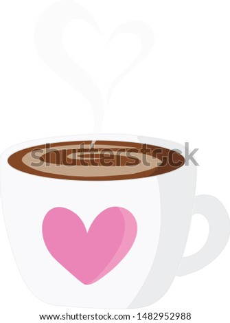 A Cup of Hot Cocoa or Hot Coffee, Illustration, Drawing