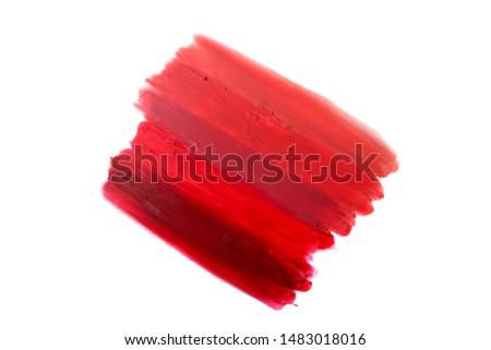 Lipstick pattern. From light to deep colour lipstick texture.   #1483018016