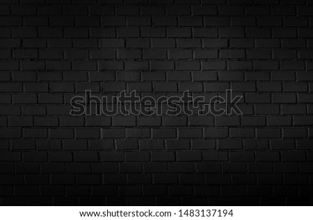 Abstract black brick wall pattern background and black backdrop, Blank copy space. #1483137194