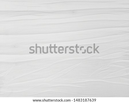 Soft white wrinkled fabric background for graphic design or wallpaper. #1483187639