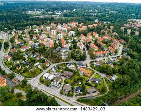 The town Boras from above august 2019 #1483429103