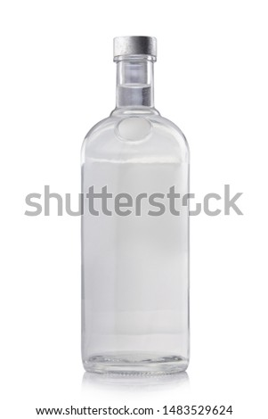 Plan vodka bottle isolated on white #1483529624