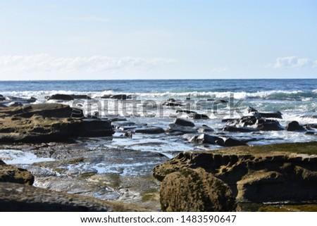 Caloundra rocks, sunshine coast, Queensland Australia  #1483590647