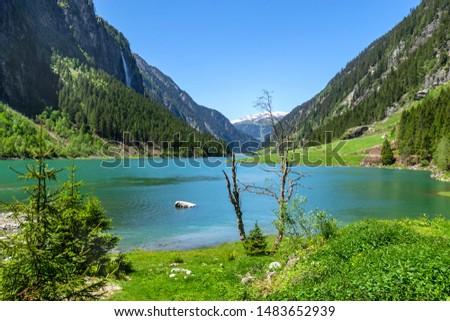 Mountai lake in the Alps, Austria, Tirol #1483652939
