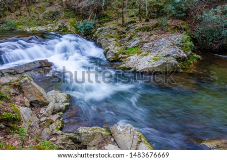 Great Smoky Mountains National Park is an American national park and a UNESCO World Heritage Site.Tennessee and North Carolina State of US. #1483676669