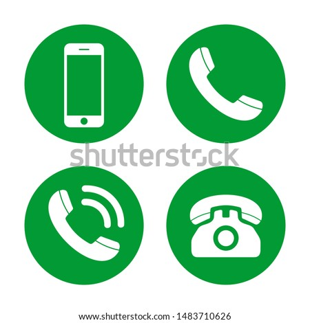 Phone icon vector. Call icon vector. mobile phone smartphone device gadget. telephone icon. Contact #1483710626