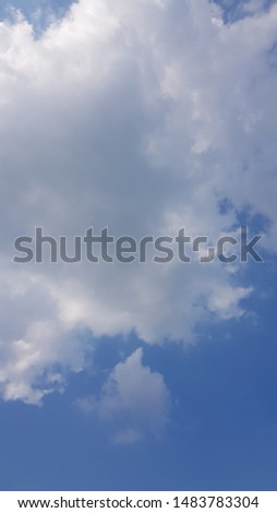 beautiful blue sky and white clouds #1483783304