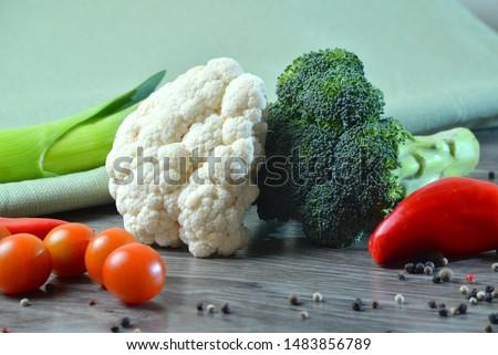 Macro photo green fresh vegetable broccoli. Image green fresh organic broccoli. Stock photo green cabbage broccoli #1483856789