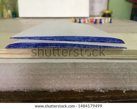 Airfoil model, wing glider made with compressed foam Royalty-Free Stock Photo #1484179499