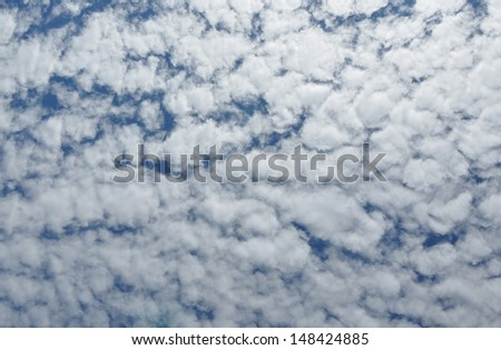 Cloudy summer day background