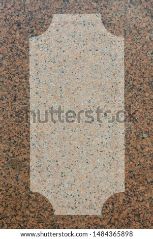 The texture of the stone is smooth brown and beige. #1484365898
