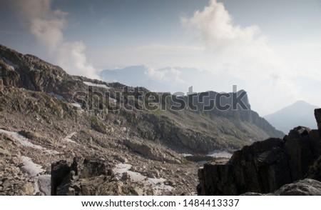 View of an Italian mountain pass, rocky mountain, Italy,  #1484413337