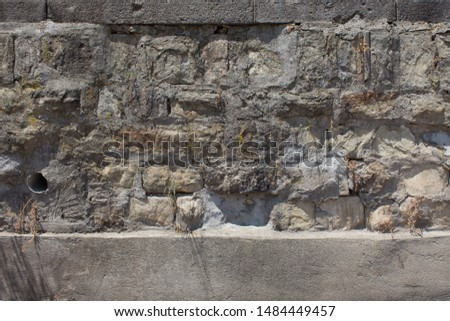 Wall with old stone blocks texture. #1484449457