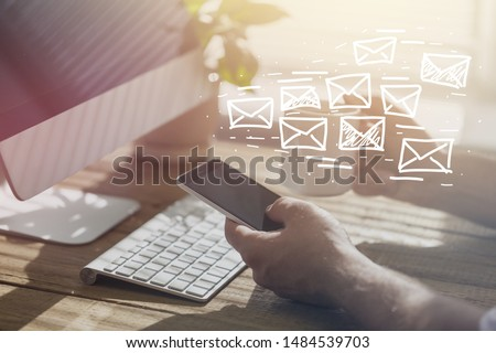 Email marketing and newsletter concept #1484539703