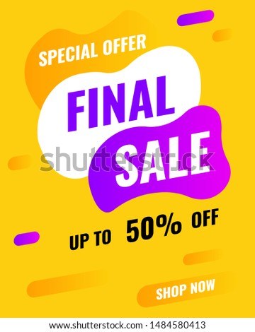 Modern Banner Template, Final sale Offer, Template 4:5 size (base on 1080x1530) for social media full screen display on mobile recommend form social media, illustration  #1484580413