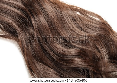 wrap round clip in wavy dark brown synthetic ponytail hair extension #1484605400