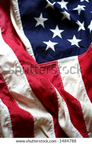 American Flag Close Up 3, shallow DoF #1484788
