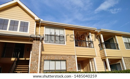 Apartment complex with outdoor and sky  #1485040259
