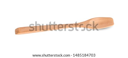 wooden spoon isolated on white background #1485184703