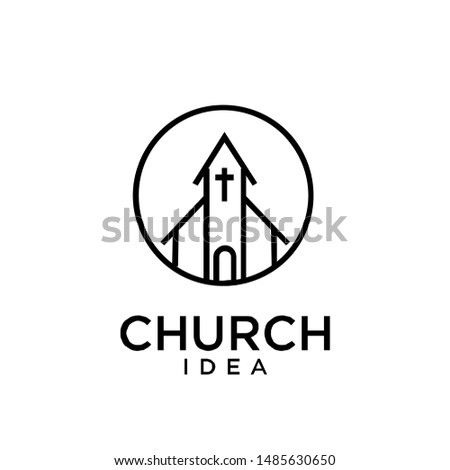 church logo icon design vector illustration #1485630650