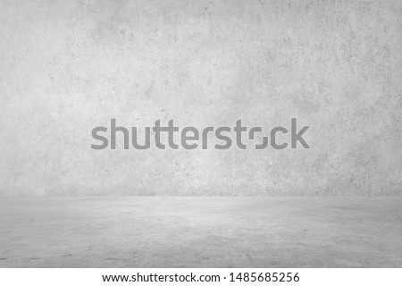 perspective Concrete  Room for display products and background for interior design of buildings or websites and loft office style.  Plaster or Gypsum wall texture.  #1485685256
