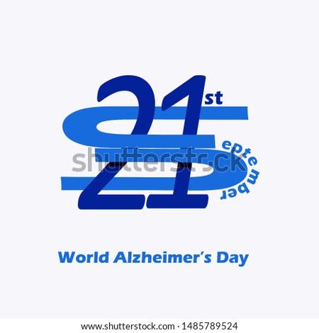 World Alzheimer's Day (September 21). Line logo for Alzheimer's Day.illustration. #1485789524