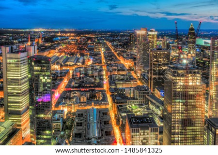 The banking district of Frankfurt am Main #1485841325