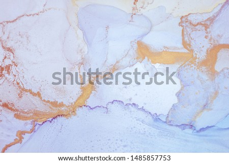 Alcohol ink. Style incorporates the swirls of marble or the ripples of agate.  Abstract painting, can be used as a trendy background for wallpapers, posters, cards, invitations, websites. #1485857753
