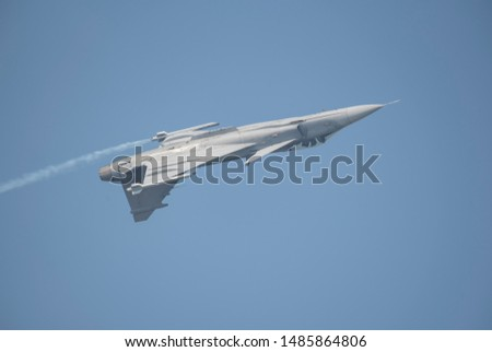Gripen fighter aircraft - airshow in thailand