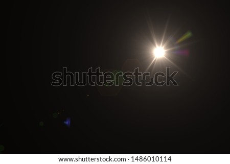 Natural, Sun flare on the black background #1486010114